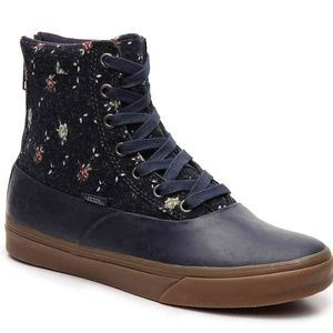 Vans | Floral All Weather High Top Boots NWOT